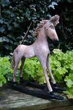 Wooden rocking horse, French shabby chic - beautiful gift