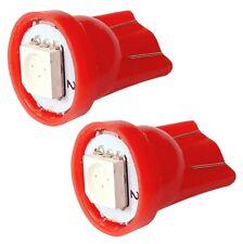 2x ampoule T10 W5W 12V LED SMD rouge veilleuses éclairage intérieur coffre