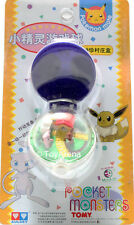Auldey Tomy Pokemon Wind-Up Pokeball Mew & Eevee Keychain