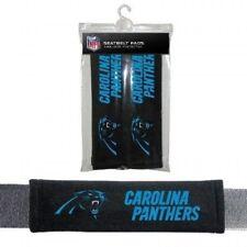 CAROLINA PANTHERS 2 VELOUR SEAT BELT LAPTOP GYM BAG SHOULDER PADS NFL FOOTBALL