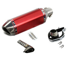Red Motorcycle Exhaust Muffler Pipe Beyond Universal Modified M99G Stainless