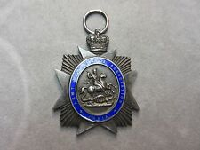 RARE Antique Army Temperance Association India Enamel Sterling Silver Badge Pin