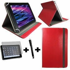 3er Set 7 zoll Tablet Tasche blackberry playbook Hülle Etui - 3in1 Rot 7