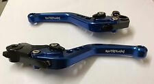 Husqvarna 701 Supermoto / Enduro Adjustable Clutch Brake Lever Set Anodised Blue