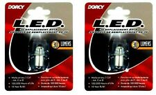 Lot of (2)DORCY 41-1643 30 Lumen 3V LED Replacement Light Bulb for 2 Cell AA/C/D