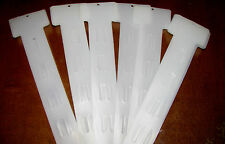 15 Hanging Merchandising Strip Display Plastic Clip Strips WITH HOOKS NEW