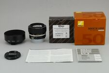 【UNUSED】 Nikon AI-S Nikkor 50mm F1.2 AIS MF Lens + HS12 Hood from Japan #1545