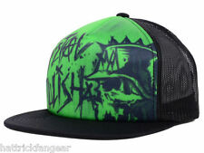 METAL MULISHA SPIKED MESH BACK FLAT BILL SNAP BACK TRUCKERS CAP/HAT - OSFM