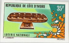 IVORY COAST ELFENBEINKÜSTE 1971 395 U 321 Natl. Lottery Gaming Table Tickets MNH