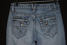 "Esprit Womens Jeans Size 6 Reg Flared Leg Medium Acid Wash (31"" X 29.5"")"