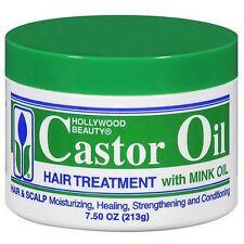 Hollywood Beauty Castor Oil Hair Treatment With Mink Oil 7.5 Oz (213g)