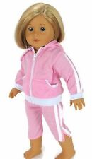 """Pink Hooded Capri Jogging Set fits 18"""" American Girl Doll Clothes"""