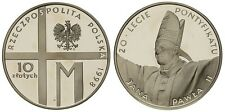 1998 Poland Silver Proof  10 Zl-Pope John Paul II
