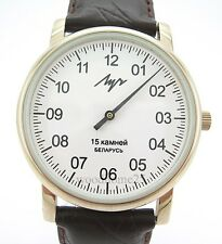 Watch LUCH with ONE Hand ZIRCONIUM case Russian NEW