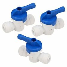 "High Quality New 5pcs Tube Ball Valve Quick Connect Fitting 1/4"" RO Water System"