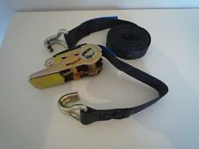 10 x 2 Metre x 25mm  800Kg Ratchet Tie Down straps double claw hook BS approved