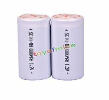 2 x Sub C SubC With Tab 6000mAh 1.2V Ni-MH White Color Rechargeable Battery USA