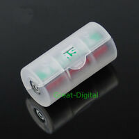 2x AA to C Size Battery Converter Adapter Adaptor Case New