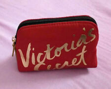 Victoria's red gold small cosmetic bag/red
