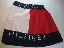 VTG 90s Tommy Hilfiger Terry Cloth Spellout Colorblock Towel Skirt OSFA Beach