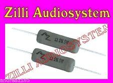 AZ AUDIOCOMP R5.2B7/b Coppia resistenze da 2,7 Ohm 5 W antinduttive Best NUOVE