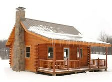 Build a Log Cabin Barn Shed 13,000+ Plans Garage Shelter on DVD Wood Working