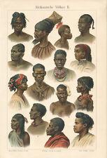 Afrikanische Völker II Halsschmuck Masaii Bantu Indigen Profil Zulu SUPER 016
