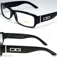 New DG Eyewear Clear Lens Frame Glasses Designer All Black Fashion Rectangular