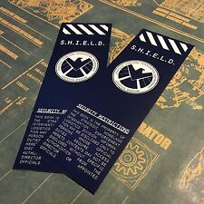 SHIELD • SET OF TWO BOOKMARKS • LEVEL SEVEN READING REQUIRED • AGENTS COULSON •