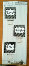 Live Laugh Love  Metal Wall Candle Holders set of 3