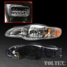 2000-2005 Chevrolet Monte Carlo Headlight Lamp Clear lens Halogen Left Side