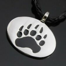"Silver Bear Claw Paw Gay Pride Pewter Pendant with 20"" Choker Necklace PP#205"