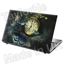 "15.6"" Laptop Skin Cover Sticker Decal butterfly watch"