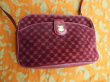 celine paris vintage burgundy leather cossbody / handbag