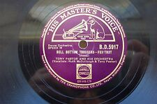 TONY PASTOR 78 RPM BELL BOTTOM TROUSERS / FIVE SALTED PEANUTS HMV BD5917