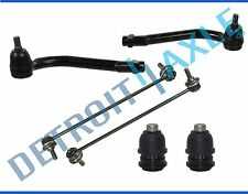 6pc Complete Front Suspension Kit Tie Rods Ball Joints Sway Bar End Link