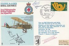 Rare RAFSP1c Gutersloh 18 Sqn, Signed,  Covers dropped in Bremerhaven harbour