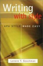 Writing with Style: APA Style Made Easy (with InfoTrac), Szuchman, Lenore T., 05