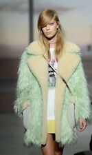 NWT $1,495 COACH Mint Green Oversized Fluff Faux Fur Shearling Coat Jacket - XS