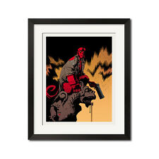 Hellboy Urban Comic Art Poster Print 0686