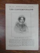 LES CONTEMPORAINS No 167 (1895) MADAME SWETCHINE Sophie SOYMONOF (1782-1857)