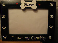 I LOVE MY GRANDDOG - custom personalized grandparents pet photo picture frame