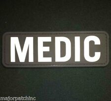 3D PVC MEDIC XL PARAMEDIC EMT EMS RESCUE FIRST RESPONDER VELCRO® SWAT PATCH US