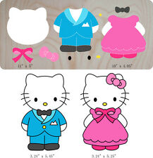 Hello Kitty Girl Wood Die New Craft compatible Bigshot, Quilt, Fabric, Scrapbook