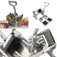 Potato French Fry Fruit Vegetable Cutter Slicer Commercial Quality W 4 Blades Ek