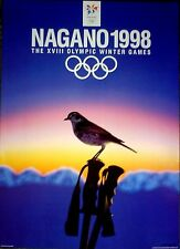 "1998 Nagano, Japan - WINTER OLYMPIC POSTER - IOC Licensed reprint  13"" x 18"""