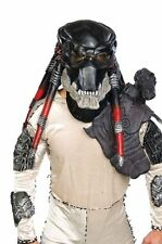 Halloween LifeSize Costume PREDATOR DELUXE LATEX HELMETED MASK Haunted House NEW
