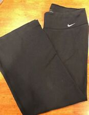Womens NIKE Dri-fit Athletic Running Yoga Gym Workout Pants Medium Black Swoosh