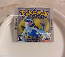 Pokemon Silver Version Cartridge Replacement Label Sticker for Original Gameboy