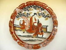 "EDO-MEIJI Antique EROTICA ""Kutani"" China Plate Y877"
